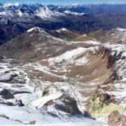 trekking - hiking cerro el pintor - andes - chile