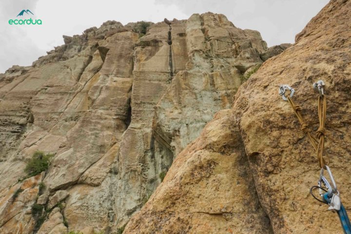 torrecillas multipitch sport climbing santiago chile
